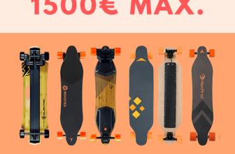 Skateboard électriques à moins de 1500 euros