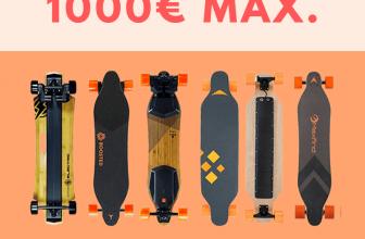 Skateboard électriques à moins de 1000 euros