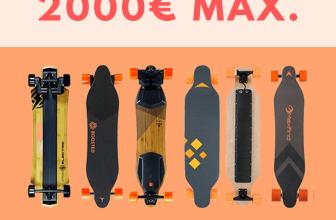 Skateboard électriques à moins de 2000 euros